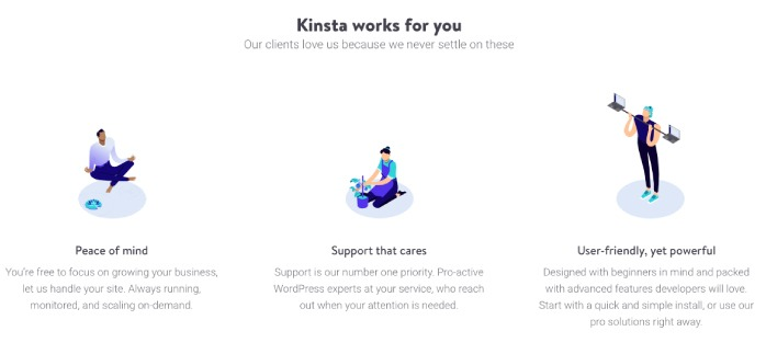 Kinsta using proximity in its informative figures.