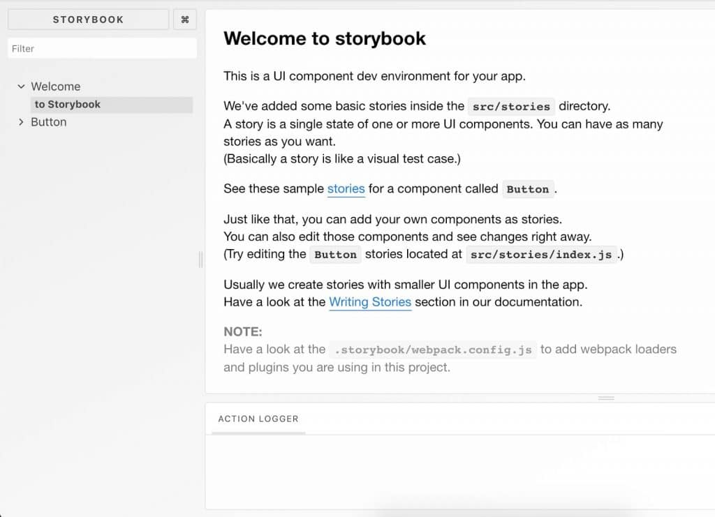 Storybook UI web development for NGOs