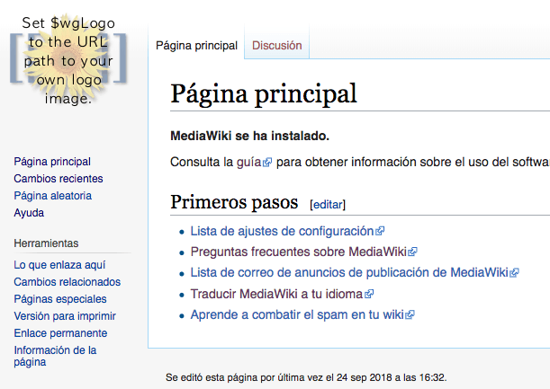 Create your own wiki main page